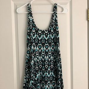 Patterned tank top dress